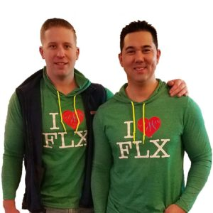 I Heart FLX - Hoodie Heather Green Product Image