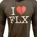 I Heart FLX - Hoodie Heather GreyProduct Image