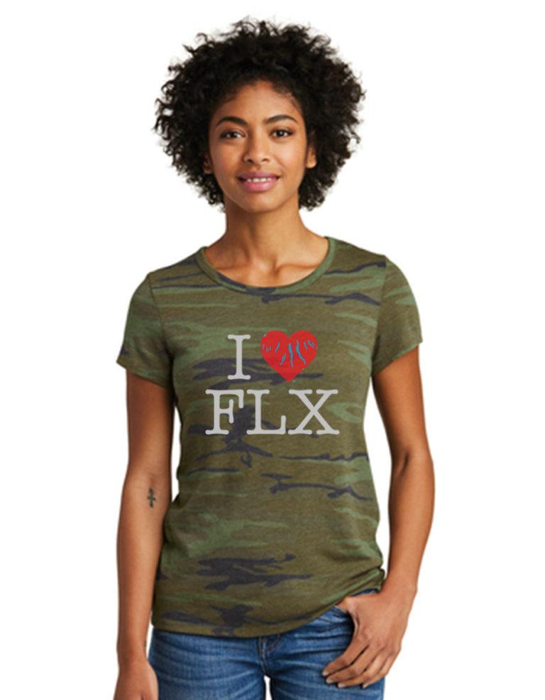 I Heart Fingerlakes, Camo T-Shirt-F