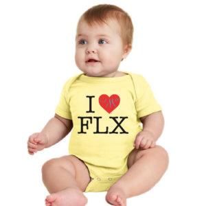 I Heart FLX - Baby Onsie