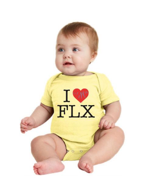I Heart FLX – Baby Onsie